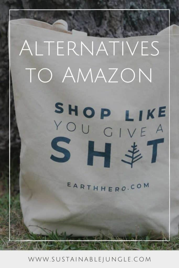 There's never been a better time to opt for ethical alternatives to Amazon who provide zero waste packaging, offset shipping emissions, and create earth-conscious products.  Image by EarthHero #alternativestoamazon #amazonalternatives #sustainablejungle