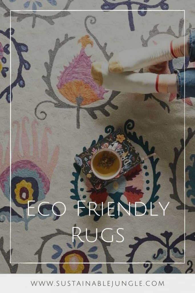 Let's beat the dirt and toxins out of our homes and replace those planet-killing Persians with sustainable and eco friendly rugs instead.  Image by Loomy #ecofriendlyrugs #sustainablerugs #sustainablejungle