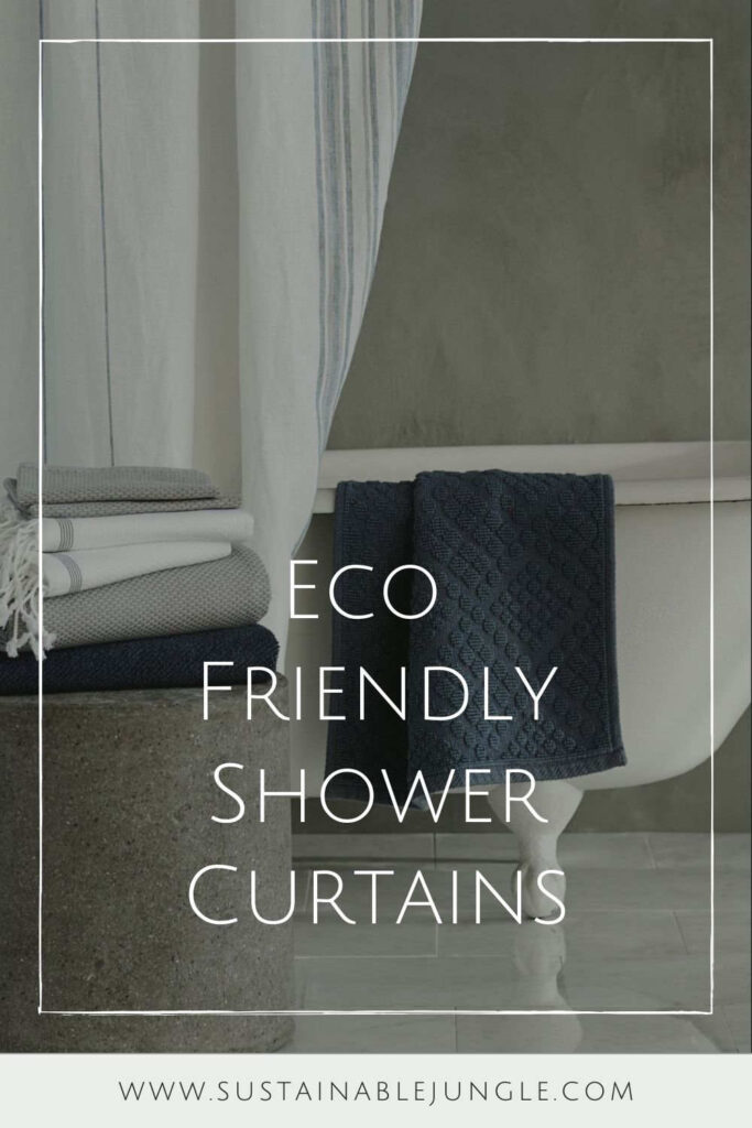 To make our hygiene habits a little healthier, we went on a hunt for the best eco friendly shower curtains. Here's what sustainable showering looks like by the brands doing it best. Image by Coyuchi #ecofriendlyshowercurtains #sustainableshowercurtains #sustainablejungle
