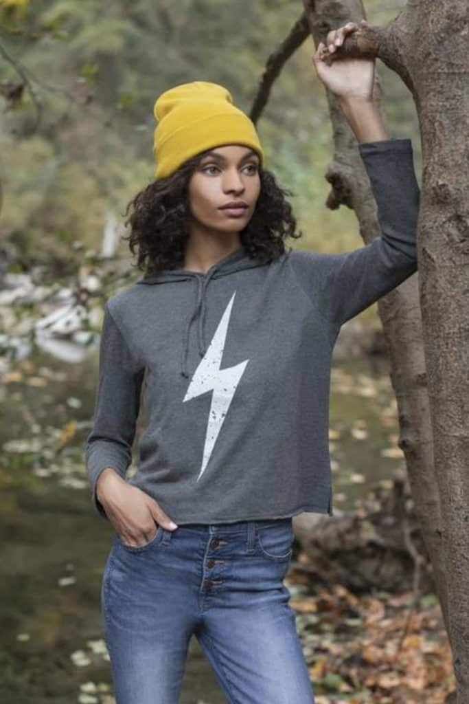 Most hoodies are synthetic based, meaning they'll be around for hundreds of years. So in the spirit of a sustainable fashion industry (and planet), opt for an ethical and organic hoodie that puts the eco in eco-conscious clothing.  Image by Synergy Organic #organichoodie #ethicalhoodie #sustainablehoodie #sustainablejungle
