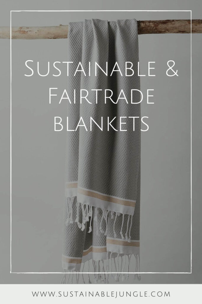 We're not a fan of blanket stealers OR practices that steal a healthy planet from future generations… which is why we're wrapping up in sustainable and fair trade blankets. Image by Coyuchi #sustainableblankets #fairtradeblankets #sustainablejungle
