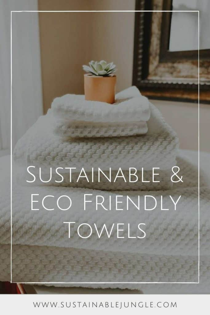 While contemplating life in the shower (obviously), we realized that it doesn't make much sense to dry ourselves in a bath of synthetic fabrics treated with toxic chemicals after using eco friendly shampoo, so let's clean ourselves and our dirty planet up one eco friendly towel at a time. Image by Pact #ecofriendlytowels #sustainabletowels #sustainablejungle