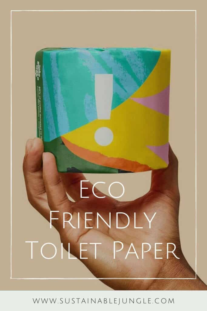 Let's start giving a s*** about our planet, by starting with the best eco friendly toilet paper.  Image by Who Gives A Crap #ecofriendlytoiletpaper #sustainabletoiletpaper #sustainablejungle