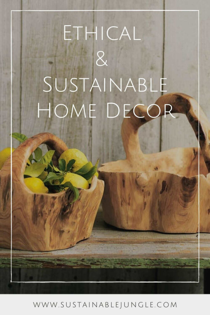 Sustainable home decor that's both aesthetically and ethically pleasing is possible! Conscious brands exist and they're making ethically-styled living easier for us all.  Image by VivaTerra #sustainablehomedecor #ethicalhomedecor #ecofriendlyhomedecor #sustainablejungle