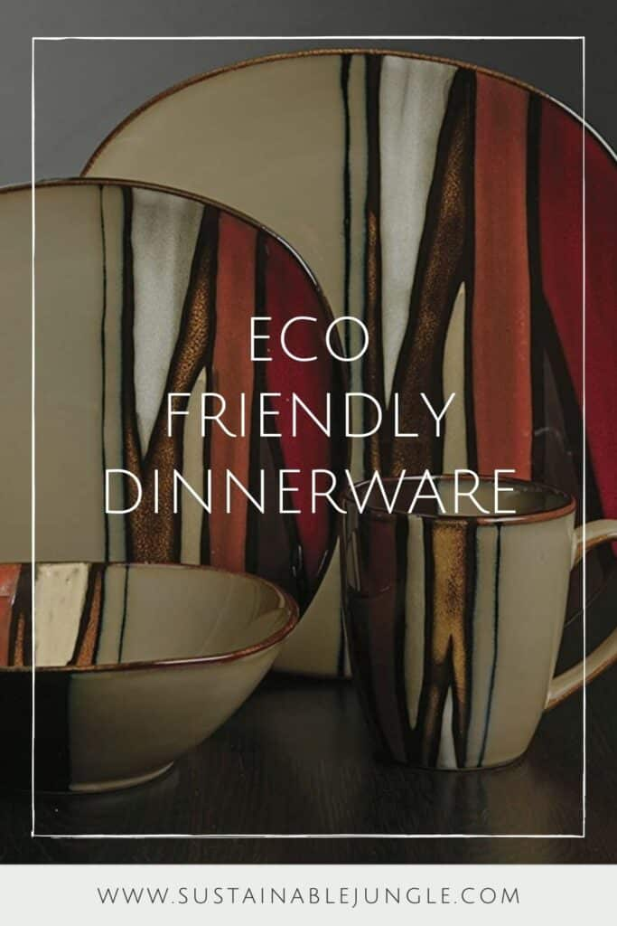 Sustainable and eco friendly dinnerware is quite literally the foundation of a planet friendly plate.  Image by Gibson #ecofriendlydinnerware #sustainabledinnerware #sustainablejungle