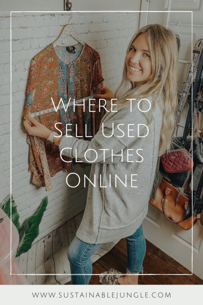 Platforms that allow you to sell used clothes online provide a win-win-win for over-cluttered homes, uncluttered wallets, and the rapidly-cluttering planet. Image by Poshmark #sellusedclothesonline #howtosellusedclothesonline #bestplacestosellusedclothesonline #sustainablejungle