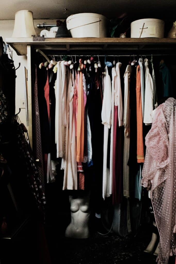 In need of a closet purge? Tired of a worn-out wardrobe? At some point, we're faced with the question of what to do with old clothes.  Image by Adrienne Leonard on Unsplash #whattodowitholdclothes #sustainablejungle