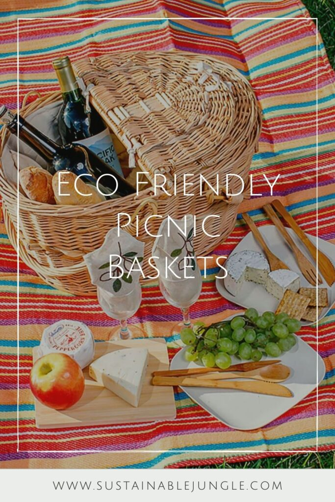 To truly enjoy the great outdoors, we should all do our part to protect them. And that goes for all stages of the picnicking process, from meal planning to packing it all up in an eco friendly picnic basket. Image by VivaTerra #ecofriendlypicnicbaskets #sustainablepicnicbaskets #ecofriendlypicnic