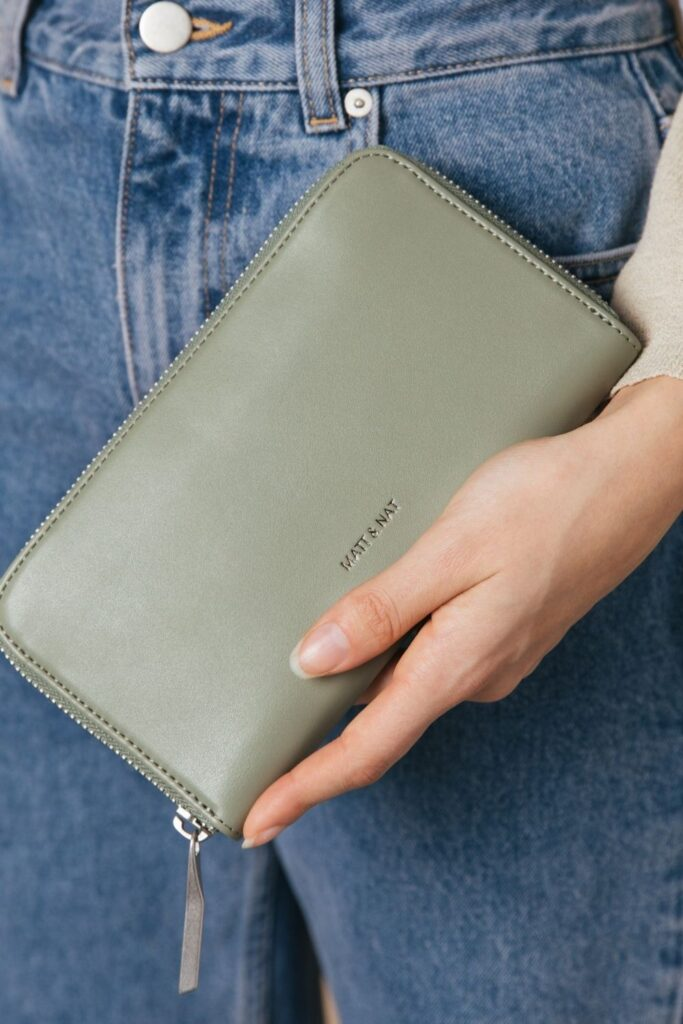 Keep your cash green and pay it forward through the purchase of a sustainable wallet. Not one made with toxin-tanned leather and plastic-based synthetics. Image by Matt & Nat #sustainablewallet #ecofriendlywallet #sustainablejungle