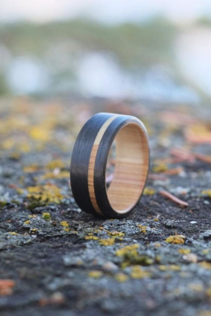To spare you the wedding day jitters, we've dug deep in the treasure chest of the internet to pull out the top sustainable and eco friendly wedding rings worth tying the knot with. Image by OriginHG on Etsy #sustainableweddingrings #sustainablejungle
