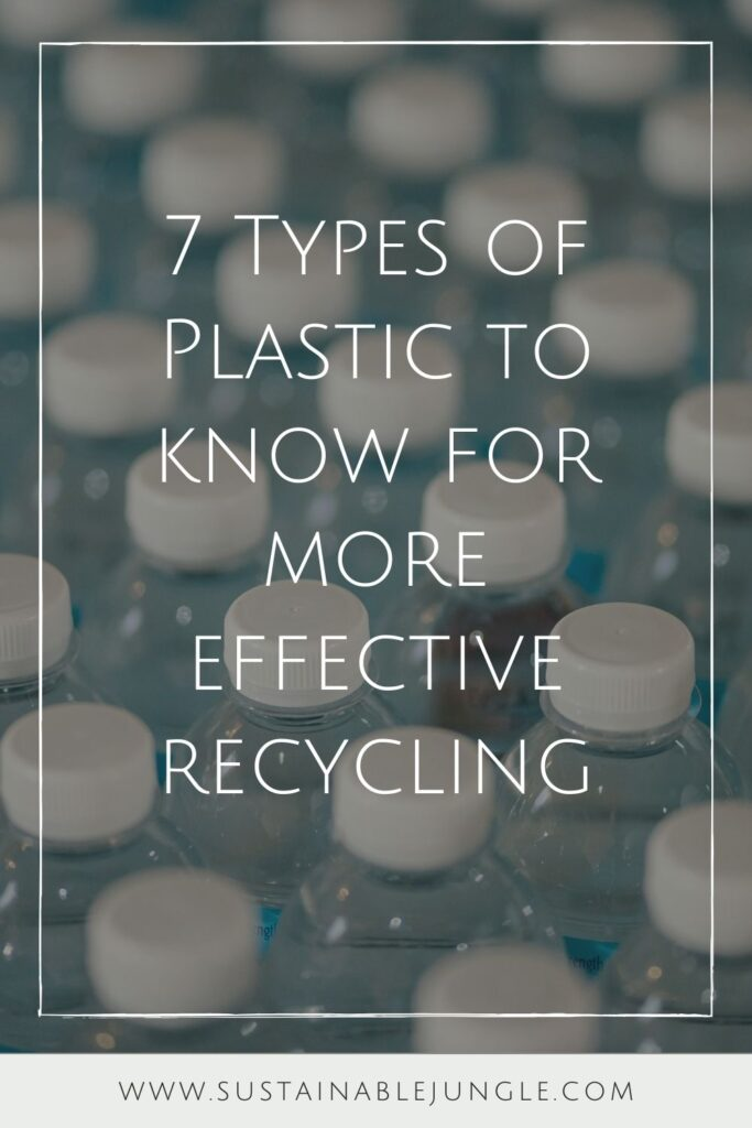 Plastic has become a popular topic in recent years—but for all the wrong reasons. Which is why it's so important to know what the different types of plastic are and how to deal with them at the end of their life. Photo by Jonathan Chng on Unsplash #typesofplastic #sustainablejungle