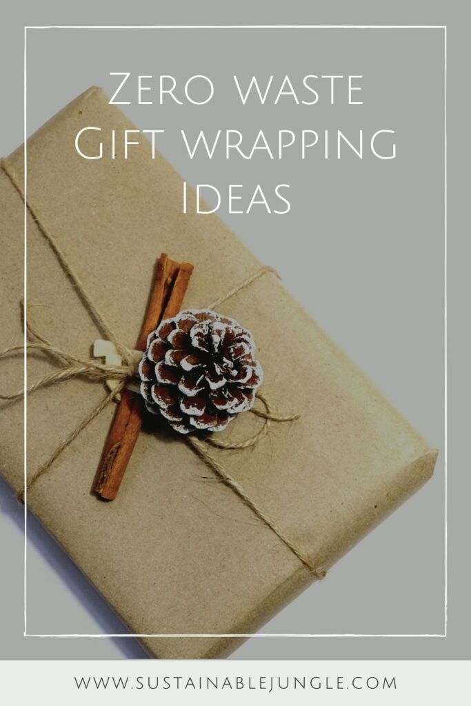 While there are endless possibilities for the creative mind, here are eight zero waste wrapping ideas to surprise your loved one with just a little bit of extra care #zerowastewrapping #sustainablejungle