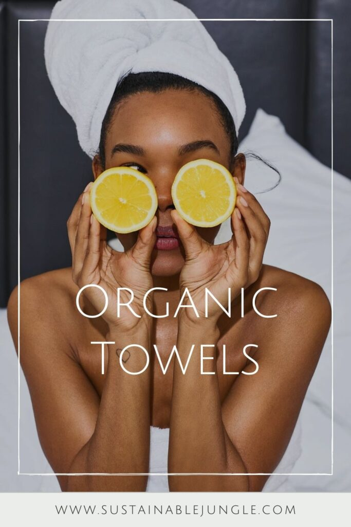 We're taking shower performances to the next level with organic towels and linens from the most sustainable bathroom brands. Image by SOL Organics #organictowels #organiccottontowels #organiccottonbathtowels #bestorganictowels #sustainablejungle