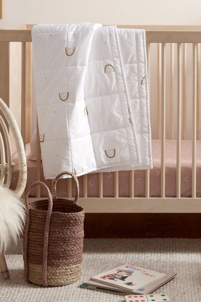 A good night's sleep can't be guaranteed but we can help you find peace of mind in other ways... like organic baby blankets! Image by Parachute #organicbabyblankets #sustainablejungle