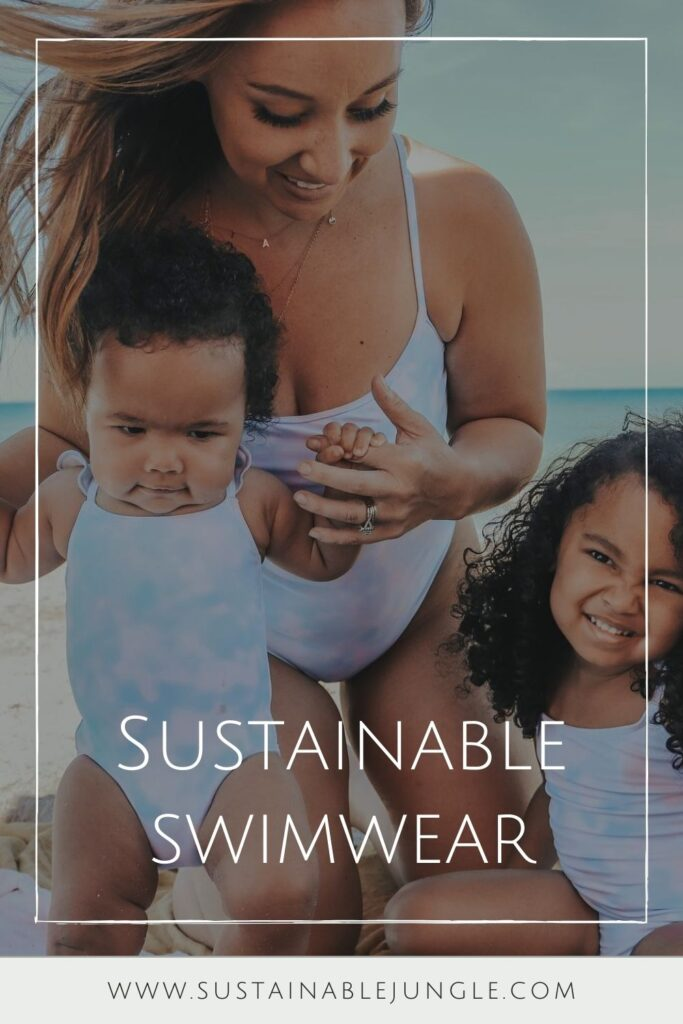 Along with warm nights and long days comes a sometimes-loved, but often-dreaded, task: finding a swimsuit. We hope this guide to ethical and sustainable swimwear brands proves helpful! Image by Summersalt #sustainableswimwear #ethicalswimwear #sustainablejungle