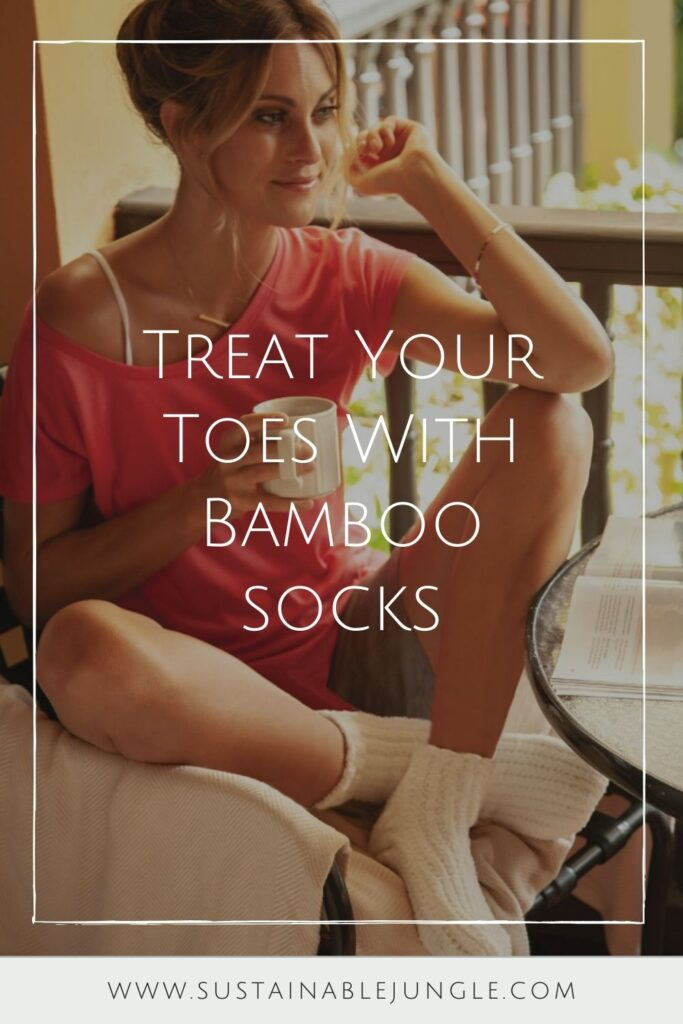 We haven't found a material that keeps a pair of socks together forever, but we have found a better way to keep our feet dry and comfortable with these sustainable bamboo socks... Image by Cariloha #bamboosocks #sustainablejungle