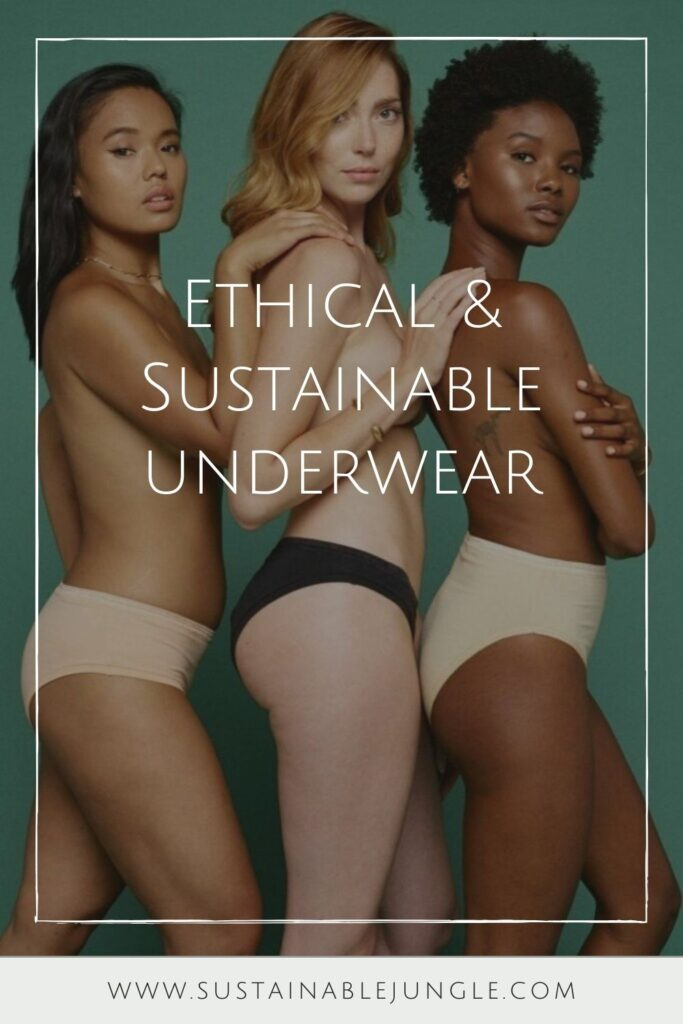 Since change starts at the bottom (pun intended), it only seems appropriate that we start with our own by switching to sustainable and ethical underwear... Image by Knickey #sustainable underwear #ethicalunderwear #sustainablejungle