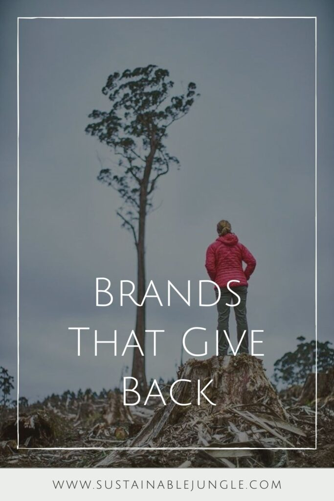 We're not advocating you go on a shopping spree here. The most sustainable products are those you already own. However, if you do need something new, consider buying from one of these companies that give back. Image by Patagonia #brandsthatgiveback #brandsthatgivebackwithpurchase #clothingbrandsthatgiveback #fashionbrandsthatgiveback #brandsthatgivebacktocharity