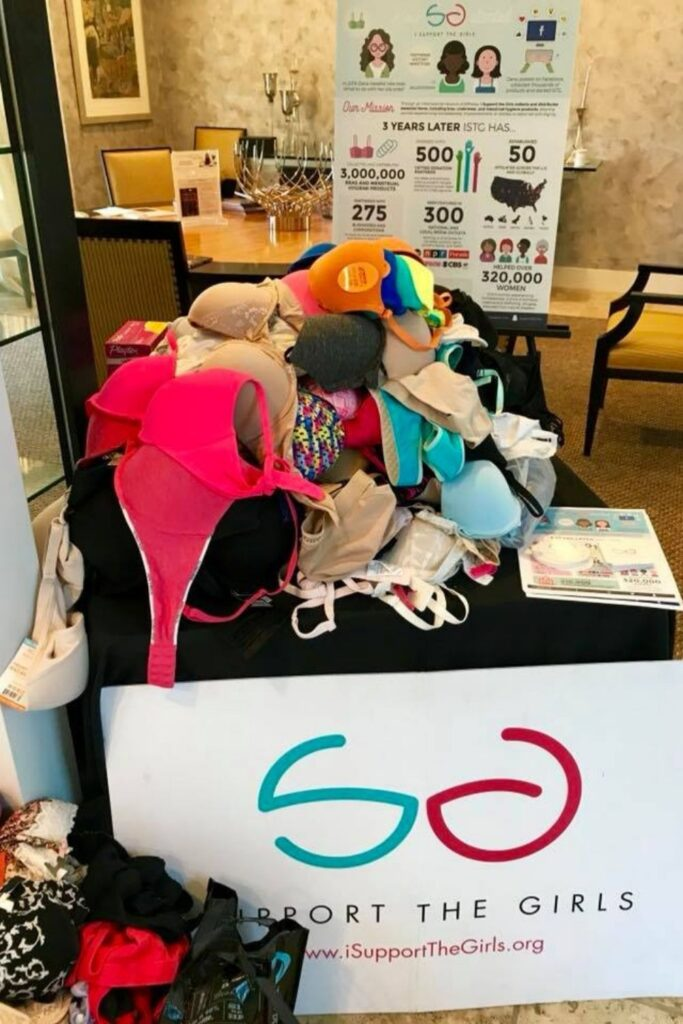 We've all been there. The unravelled elastane threatening to leave us underwear-less. The escaped bra underwire stabbing our side boob. The question remains: what to do with old underwear and what to do with old bras. Image by Support The Girls #whattodowitholdunderwear #whattodowitholdbras #sustainablejungle