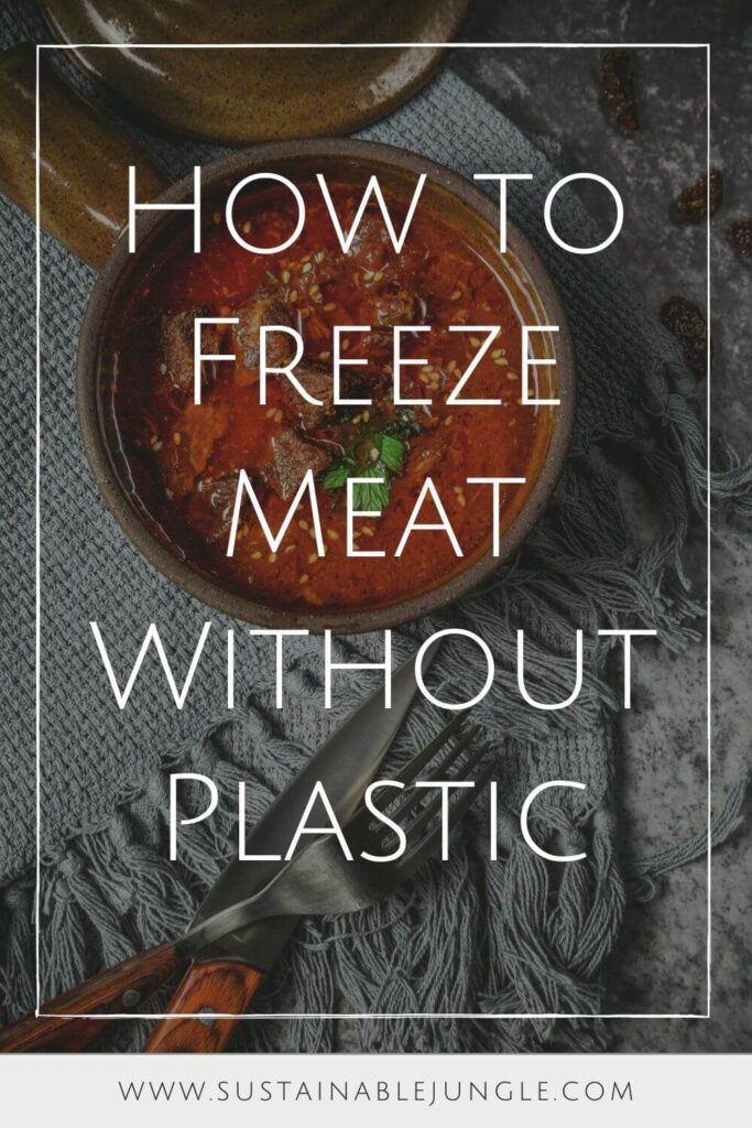 Preserving food and preventing food waste is all the more important with animal products. Part of that means learning how to freeze meat without plastic. Photo by Ting Tian on Unsplash #foodwaste #sustainablejungle