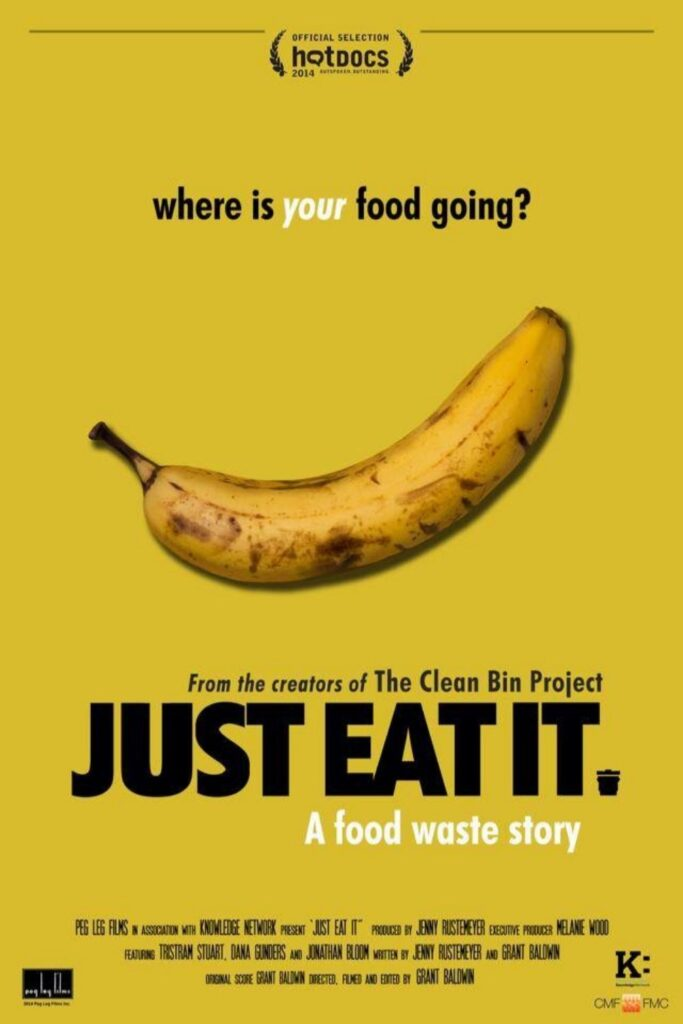 Grab some (plastic-free) snacks, dim the lights, and let a zero waste documentary change your life. Image by Just Eat It #zerowastedocumentaries #sustainablejungle
