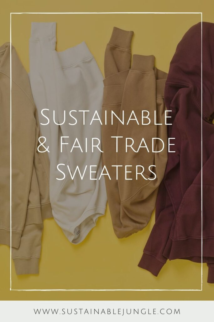 When chilly, blustery days come knocking, sweaters are essential to have. Knitted natural fabrics can warm your body, and fair trade sweaters can warm your body and your heart. Image by Colorful Standard #fairtradesweaters #sustainablesweaters #sustainablejungle