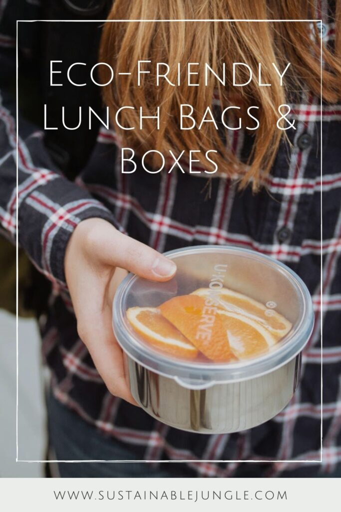 Lunch is served! We have rounded up some of the best eco friendly lunch bags and boxes we could find and are serving them up on a neat little platter just for you. Image by U-Konserve #ecofriendlylunchbags #ecofriendlylunchboxes #sustainablejungle